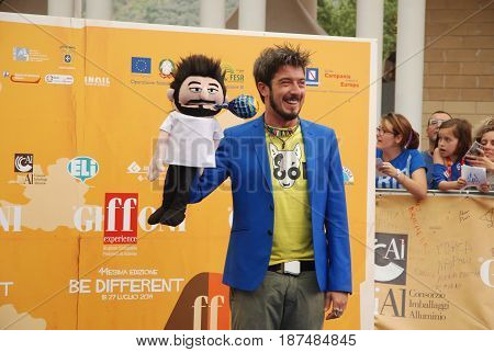 Giffoni Valle Piana Sa Italy - July 26 2014 : Paolo Ruffini at Giffoni Film Festival 2014 - on July 26 2014 in Giffoni Valle Piana Italy