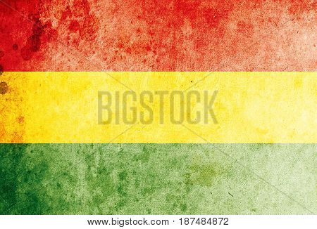 Bolivia flag grunge background. Background for design in country flag