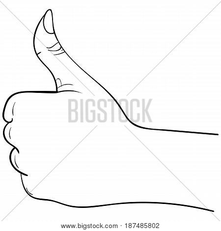 thumbs up hand symbol on a white background vector illustration