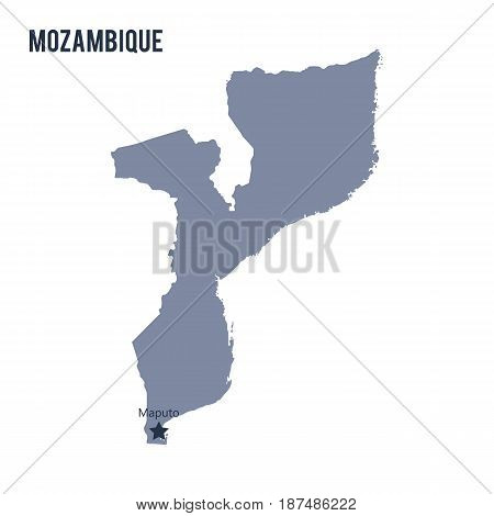 Vector Map Of Mozambique Isolated On White Background.