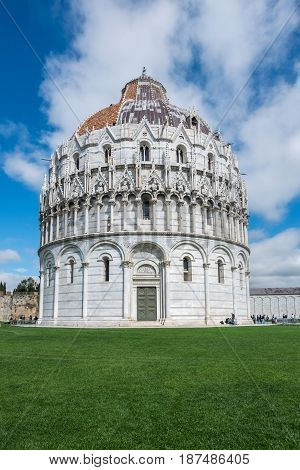 Pisa Cathedral and the Leaning Tower of Pisa in  Pisa, Italy