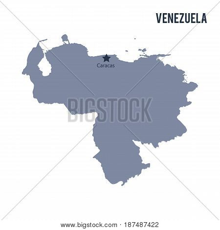Vector Map Of Venezuela Isolated On White Background.