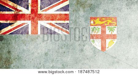 Fiji flag grunge background. Background for design in country flag