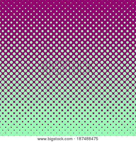 Halftone abstract background of circular elements in green and compliment colors and in the direction from bottom to top