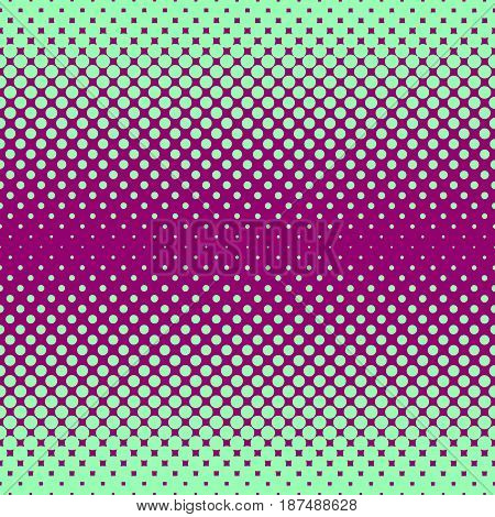 Monochrome halftone abstract background of circular elements in green and compliment colors and in the direction from the sides to the center vertically