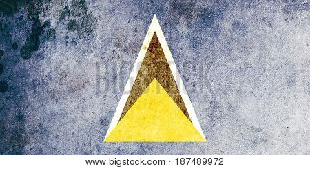 Saint Lucia flag grunge background. Background for design in country flag