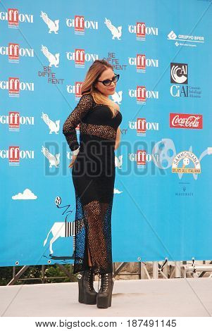 Giffoni Valle Piana Sa Italy - July 27 2014 : Naike Rivelli at Giffoni Film Festival 2014 - on July 27 2014 in Giffoni Valle Piana Italy