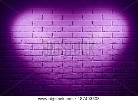 pink brick wall with heart shape light effect and shadow, abstract background photo