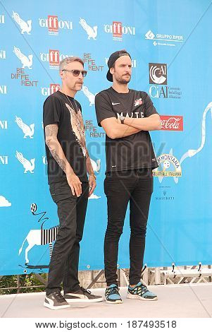 Giffoni Valle Piana Sa Italy - July 27 2014 : Pink is Punk at Giffoni Film Festival 2014 - on July 27 2014 in Giffoni Valle Piana Italy