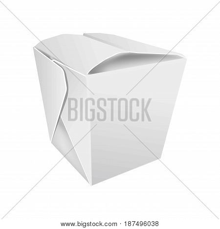 Vector illustration of a cardboard box for Asian food isolated on white.