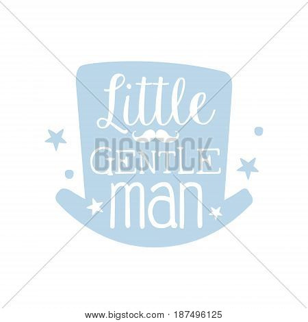 Little gentleman label, colorful hand drawn vector Illustration for girls posters, fashion patches stickers, children fabric, clothing, girls room