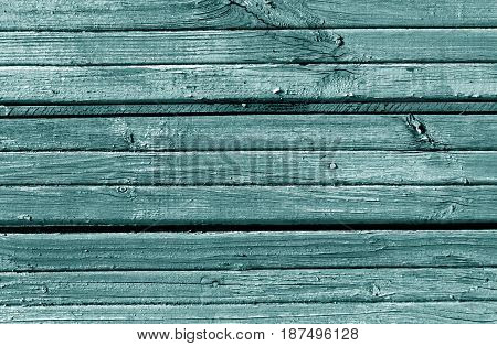 Cyan Weathered Wooden Wall Texture.