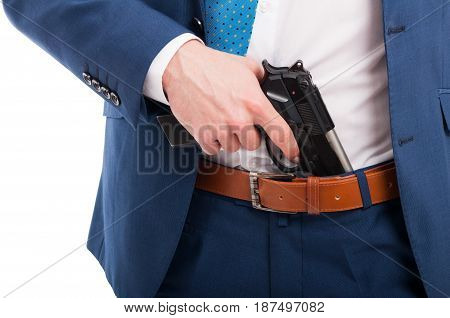 Man Holding Gun In His Hand