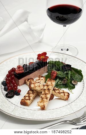 Liver Foie Gras With Croutons And Berries