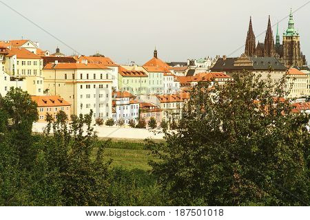 Cityscape Of Old Town In Prague, Czech Republic
