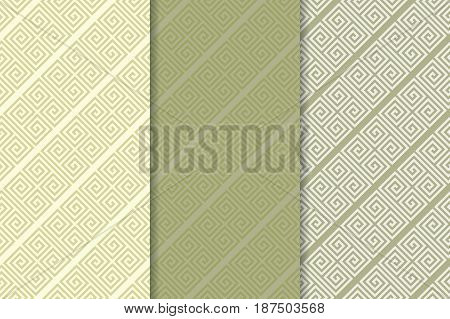 Geometric seamless pattern. Green abstract background with square shape elements. Vector illustration