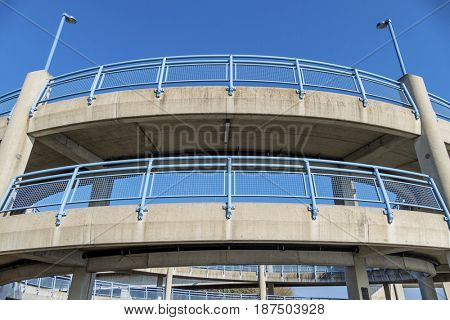 multi-storey pedestrian bridge