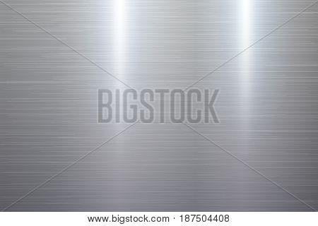 Polished brushed metal texture background. Vector illustration