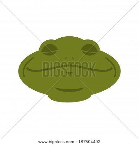 Frog Sleeping Emoji. Toad Avatar Asleep Amphibious. Emotion Reptile Face