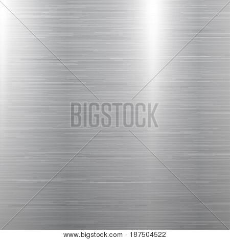 Polished square metal texture background. Vector illustration