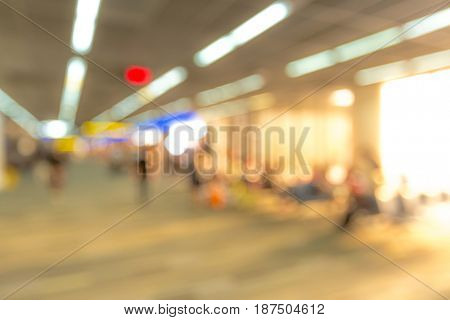 Blurred background of Traveler at airport terminal