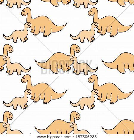 Funny Dino Seamless Pattern.eps