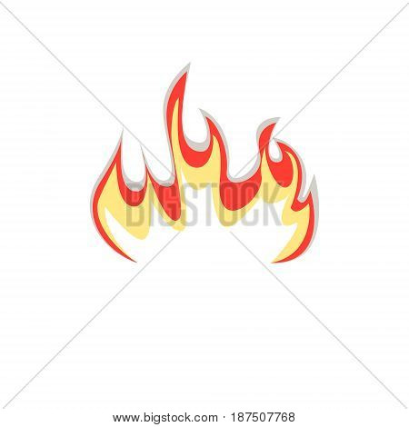 Fire fire badge sign symbol vector, isolated