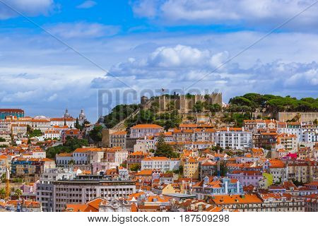 Fortress of Saint George - Lisbon Portugal - architecture background
