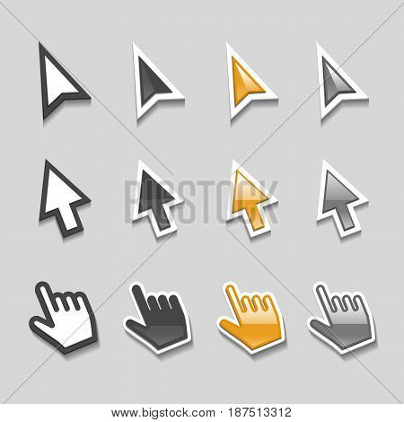 Cursors Icons Mouse Hand Arrow vector set