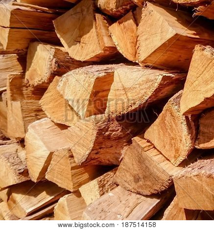 Oak logs, firewood for the barbecue or for oven
