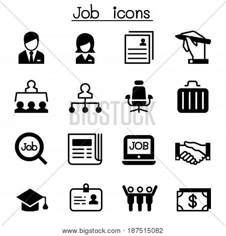 Job & Employment icon set Vector illustration Graphic design