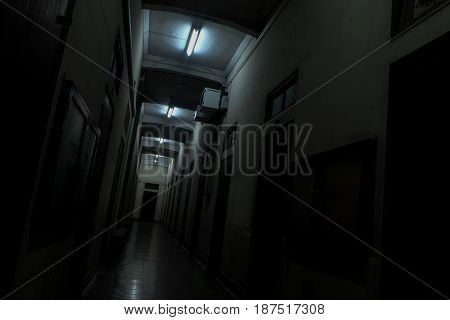 dark way perspective horror fear concept background
