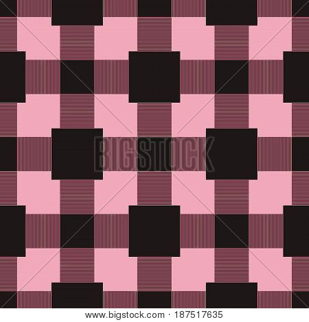 Checkered plaid fabric. Seamless pattern for textile. Vector illustration