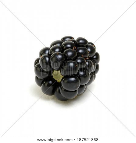 Blackberry isolated on white background.