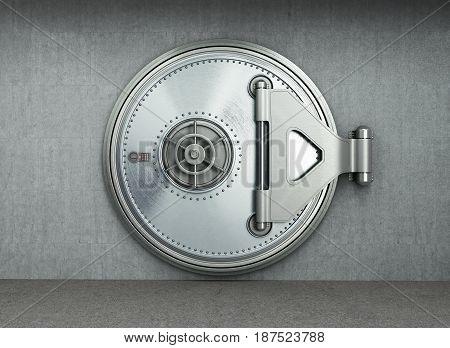 Big Safe Door Background High Resolution 3D Render