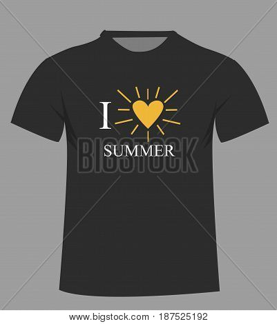 T-shirt template. Front. illustration art design with background