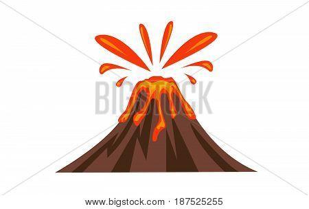Volcano Icon vector illsutation on white background