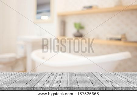 Abstract Blur Modern  Bathroom Interior Background
