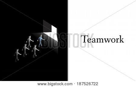 Leadership Partner Teamwork Management Graphic