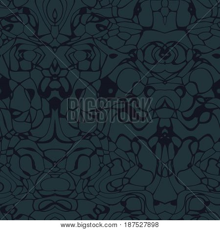Seamless abstract pattern in grey and black tones