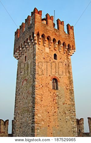 Tower Of The Medieval Scaliger Castle