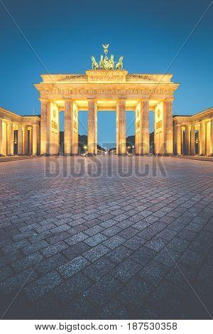 Brandenburg Gate In Twilight, Berlin, Germany