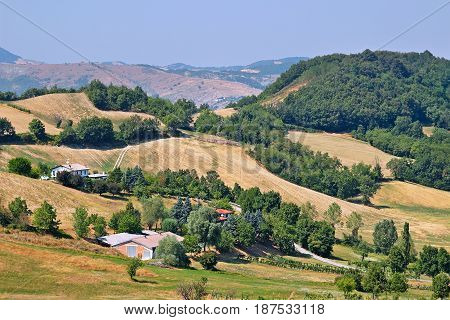 Landscape In The Apennines Mountains