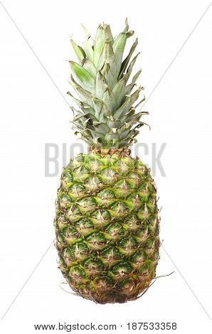 Ripe pineapple isolated on white a background