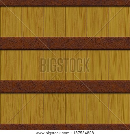 crate texture generated. Seamless pattern. Digital illustration.
