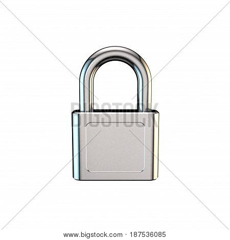 Closed padlock.Isolated on white background. 3D rendering illustration.