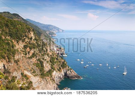 White Yachts Sailing In The Sea