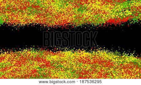 Abstract black dotted background. Digital colorful illustration.