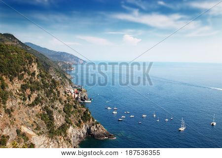 View Of Liguria Coastline
