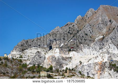 Mountain With Marble Quarries
